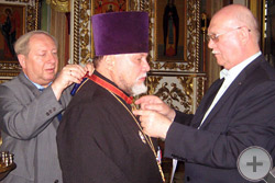 Вручение Императорского ордена протоиерею Сергию Лепихину