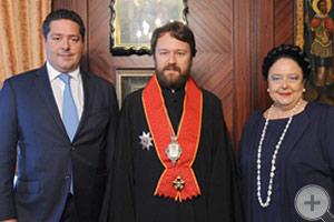 Встреча Государыни и Цесаревича с Митрополитом Волоколамским Иларионом