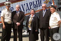 Предводитель РДС князь Г.Г.Гагарин на корабле Ярослав Мудрый