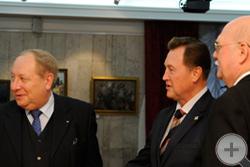 Князь Г.Г.Гагарин, генерал-лейтенант полиции В.А.Быкадоров и А.Ю.Королев-Перелешин