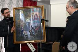 И.Г.Машков демонстрирует свою новую картину