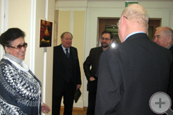 Сцена на финисаже. Крайняя слева - начальник Культурного центра Академии Л.Я.Гордеева