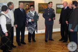 В.А.Быкадоров благодарит князя Г.Г.Гагарина за проведённую выставку