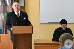 Выступление перед студентами Исторического факультета КГУ