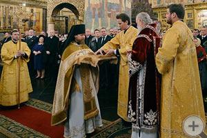 Патриаршее служение в день 400-летия избрания на царство Михаила Фёдоровича Романова