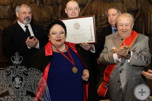 Награждения президента Российской академии художеств З.К.Церетели Императорским Орденом Св. Анны
