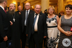 А.Н.Закатов, иеромонах Никон, князь Г.Г.Гагарин и А.Ю.Королев-Перелешин с супругой