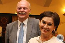 П.Э.Куликовский с супругой и Г.В.Корнилова