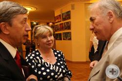 Посол В.И.Кузьмин с супругой и А.Н.Шеффер