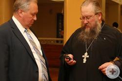 М.В.Хорев и иеромонах Никон