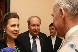 Княгиня Т.Н.Оболенская, А.Ю.Королев-Перелешин и А.Н.Шеффер