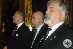 А.Н.Закатов, князь Г.Г.Гагарин и С.В.Думин