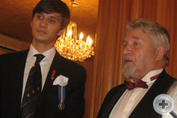 Тост произносит Вице-Предводитель РДС, Предводитель Петербургского Дворянского Собрания А.Г.Шабанов
