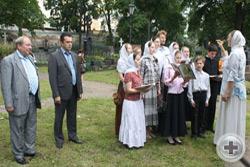 А.Ю.Королев-Перелешин и А.Н.Панин на церемонии открытия