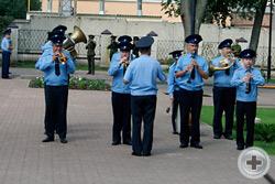 Военный оркестр и почётный караул воронежского гарнизона