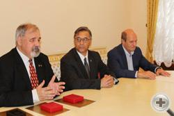 Встреча в Федеральном агентстве «Россотрудничество»: С.В.Думин, В.А.Дворянков и Ю.И.Рыков