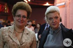Представители Дягилевъ-Центра Н.Г.Корзун (справа) и С.В.Квасова