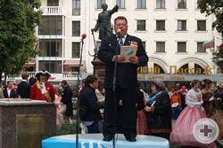 С.М.Чесноков оглашает Приветствие Канцелярии Главы Российского Императорского Дома