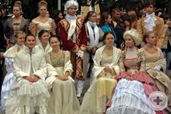 Участники театрализованного костюмированного действа