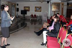 Выступление А.Б. Никитиной перед просмотром фильма
