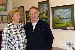 Директор Департамента социально-экономических проектов РДС Л.В.Скульская и Н.Н.Воронков