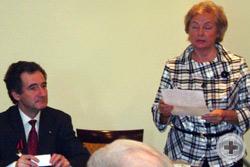 Председательствующий – Предводитель МДС О.В.Щербачев, с инициативами выступает Л.В.Скульская