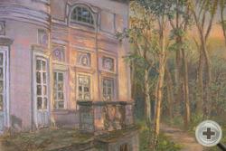 Е.Голицына. Волынщина-Полуэктово на закате солнца. 2011, б.пастель