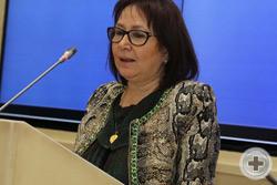Выступает председатель правления Регионального общественного фонда по постановке памятника Патриарху Гермогену Г.В.Ананьина