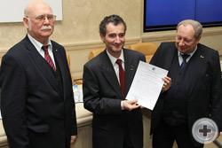 Вручение Благодарственного письма Вице-Предводителю РДС, Предводителю МДС О.В.Щербачеву