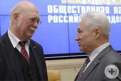 Князь Г.Г.Гагарин и президент Фонда «ОМОФОР» генерал А.В.Черкасов