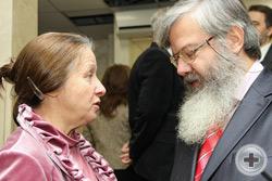 Т.И.Петракова и главный научный сотрудник Института российской истории РАН, д.и.н. В.М.Лавров