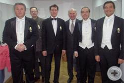 По окончанию концерта: все отмеченные наградами и организатор концерта директор Департамента культуры РДС А.Н.Шеффер