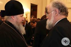 В.Е.Чуров беседует с Высокопреосвященным митрополитом Ставропольским и Невинномысским Кириллом