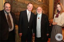 Известный историк-агиограф А.В.Бугаевский (слева), А.Е.Бусыгин и скульптор и художник Г.В.Потоцкий