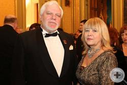 Н.И.Уколов с супругой. На втором плане – известный общественный деятель, президент Фонда помощи отечественному искусству О.Н.Адамишина