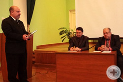 Предводитель Воронежского Губернского Дворянского Собрания Г.Н.Шимко на презентации книги