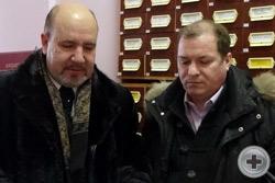 Г.Н.Шимко и С.Г.Соболев перед презентацией книги