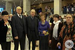 Члены делегации РДС. Cлева на право: Г.В.Корнилова, князь Г.Г.Гагарин, А.Н.Шеффер, Н.М.Афанасьева, Л.Н.Христофорова, Е.Л.Адасова
