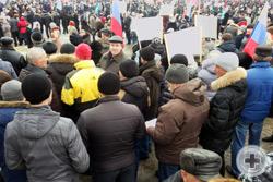 Воронежское Губернское Дворянское Собрание учавствует в городской акции, посвящённой событиям на Украине