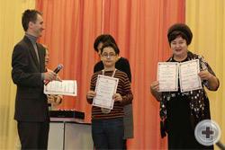 Награждение юных участников выставки