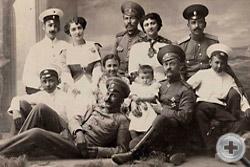 На снимке офицеры 124-го пехотного Воронежского полка