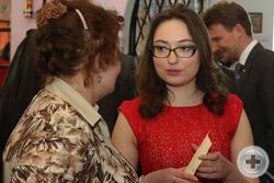 В кулуарах Съезда: члены секретариата Н.М.Орлова и М.М.Волкова (обе – Москва)