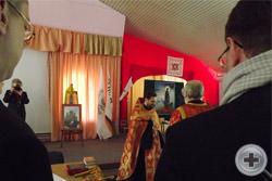 Перед открытием Съезда - молебен на начало доброго дела