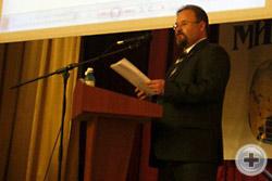 Выступление Ю.Ю.Лукина было посвящено забытой и неизвестной награде Великой войны