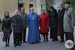 Московские традиционалисты у храма Святителя Николая Мирликийского на Щепах