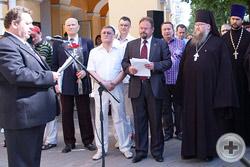 С.М.Чесноков зачитал приветствие Государыни воронежцам