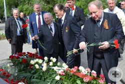 Возложение цветов к памятнику Императрице Екатерине Великой