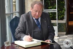 Благодарность от делегации РДС в Книгу почётных гостей Воронцовского дворца