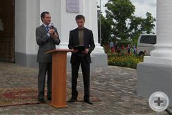 Предводитель РДС О.В.Щербачев открывает Звон-концерт Фестиваля колокольного звона