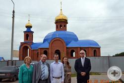 Посещение делегацией РДС строящегося храма Святого великомученика и Победоносца Георгия